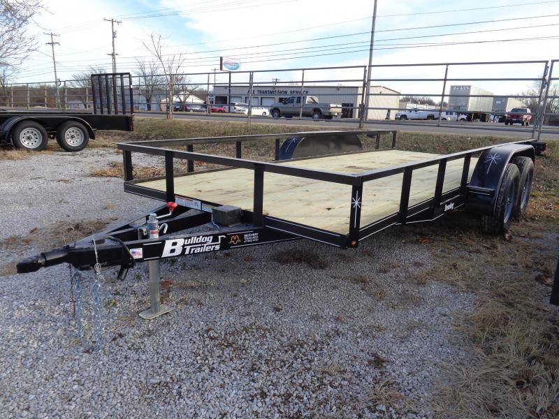 Bulldog 76 x 16' Black Tandem Utility Trailer