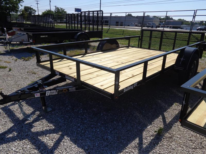 Bulldog 76 x 10'+2' Dovetail Black Utility Trailer
