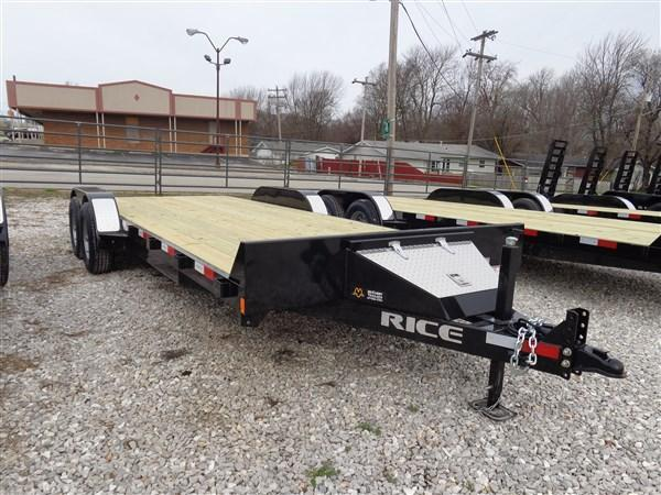 Rice 18'+2' 9900# Upgraded Car Hauler Bumper Pull Flatbed Trailer