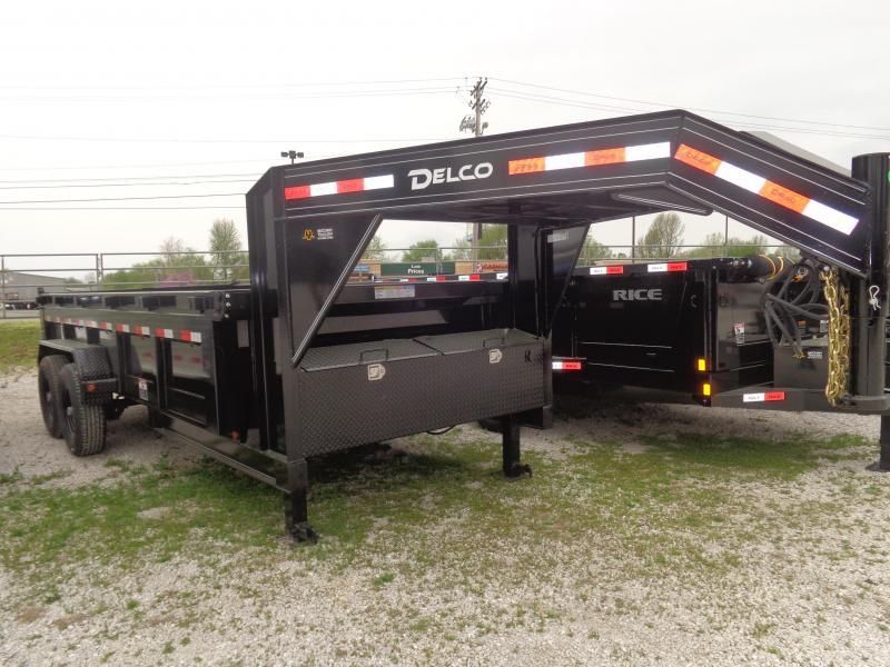 "Delco 83""x16' Low-Pro 14000# Gooseneck Dump Trailer"