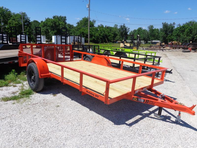 Bulldog 76 x 10+2 Dovetail Orange Utility Trailer