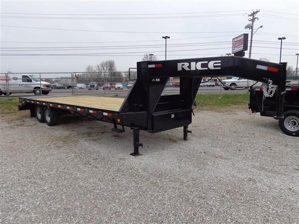 Rice 102 x  20'+5' 14000# Gooseneck Deckover W/ MAX RAMPS
