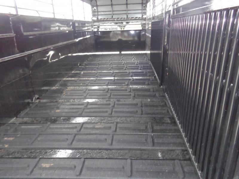 Delco 24' x 6'8 Gooseneck Powder Coated Black w/ Black Tarp Stock Trailer