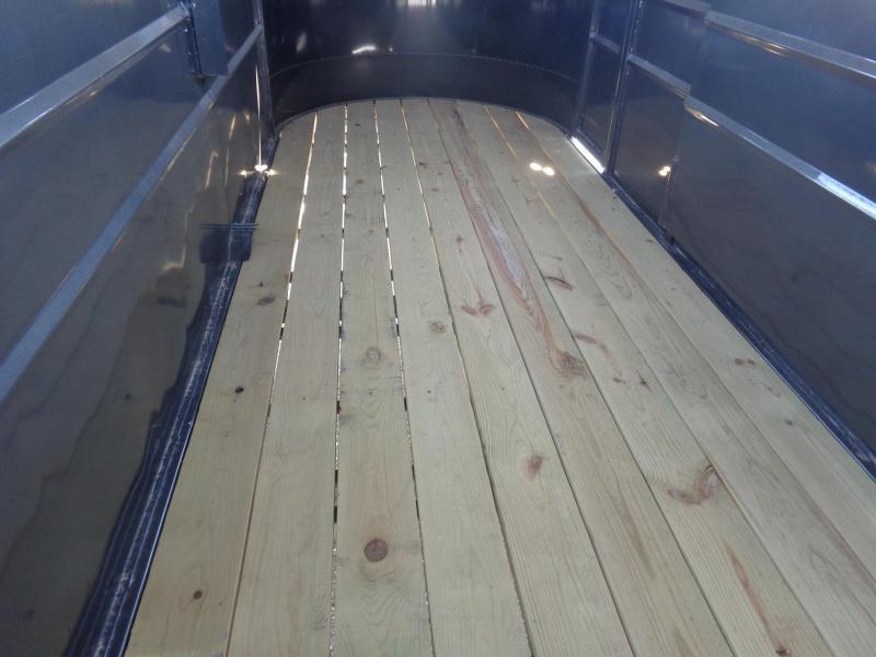 Delco 16'x6' Dark Gray Powder Coated Bumper Pull Stock Trailer
