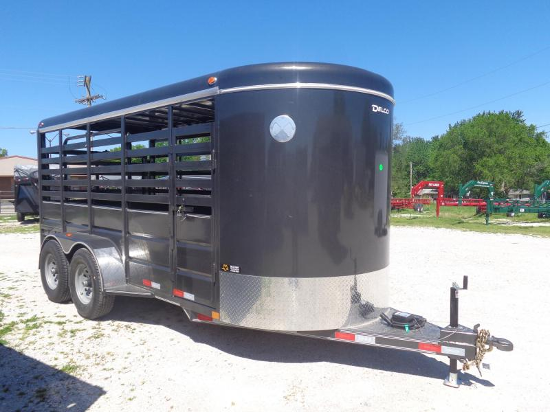 Delco 16'x6' Dark Gray Powder Coated Bumper Pull Stock Trailer