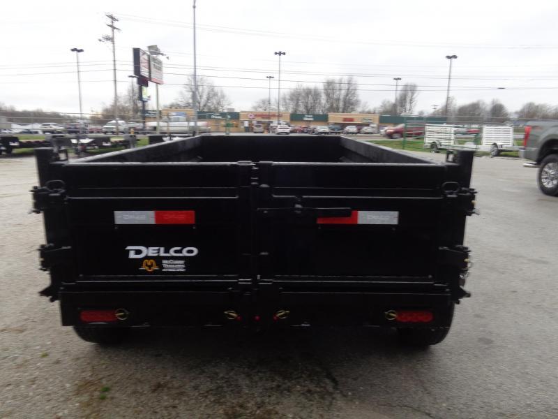 """Delco 60""""x10' Bumper Pull 7000# Dump Trailer"""