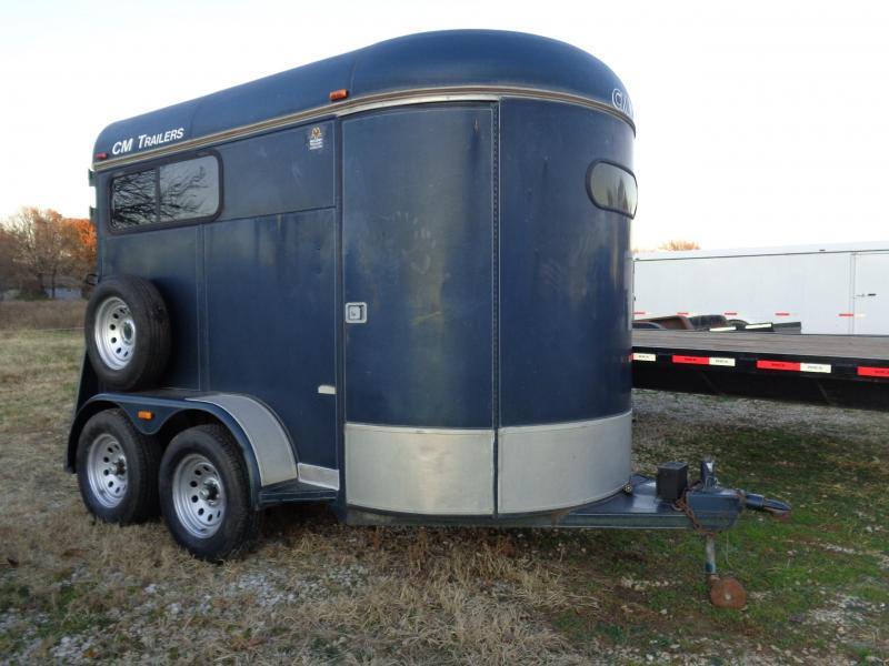 USED 2000 CM 2 Horse Bumper Pull Horse Trailer