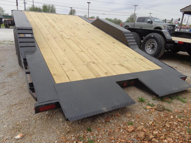 Delco 102 x 16'+4' Bumper Pull 14000# Partial Tilt FULL WIDE FLOOR Flatbed Trailer