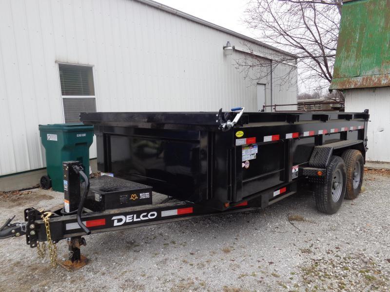 Delco 83 x 14' Low-Pro 14000# Bumper Pull Dump Trailer