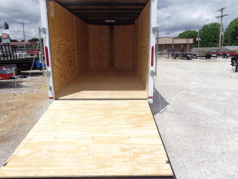 Box Cargo 7'x16' White Bumper Pull Enclosed Cargo Trailer
