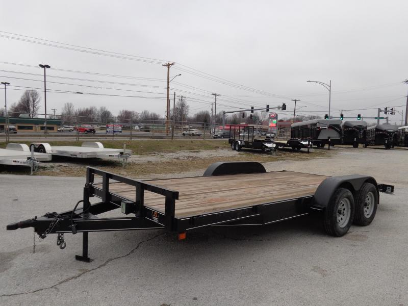 "USED 2017 KIRK 82"" x 16'+2' Flatbed Car / Racing Trailer"