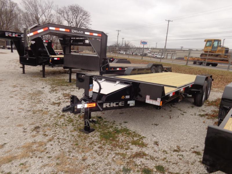 "Rice 82"" x 16'+4' Bumper Pull 14000# Partial Tilt Heavy Duty Flatbed"