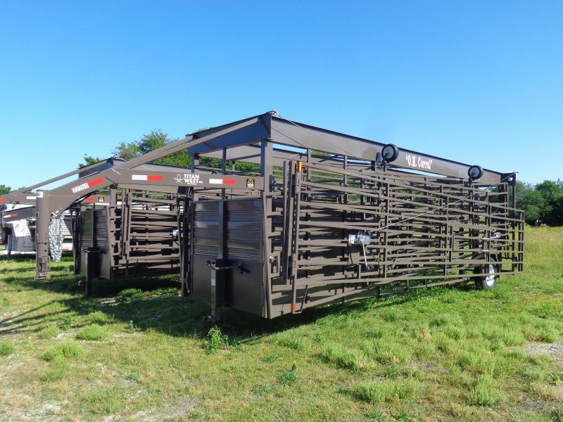 OK Corral (Original) BROWN INCLUDES 4 FOLD DOWN WHEELS AND 2 MAN GATES!! AVAILABLE IN STOCK.
