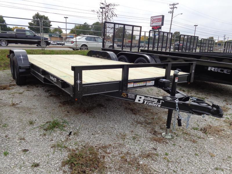 Bulldog 82 x 18' + 2' Bumper Pull 7000# Economy Car Hauler Flatbed