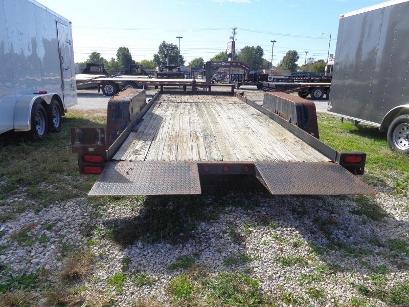 USED 2002 B-B 16'+6' Partial Tilt 14000# Equipment Trailer