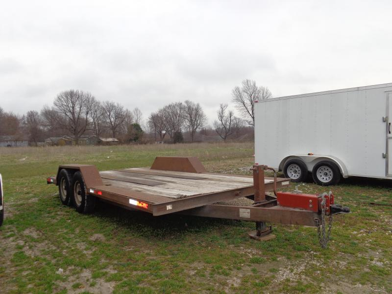 USED 1995 TRU 102 x 16' Flatbed Equipment Trailer