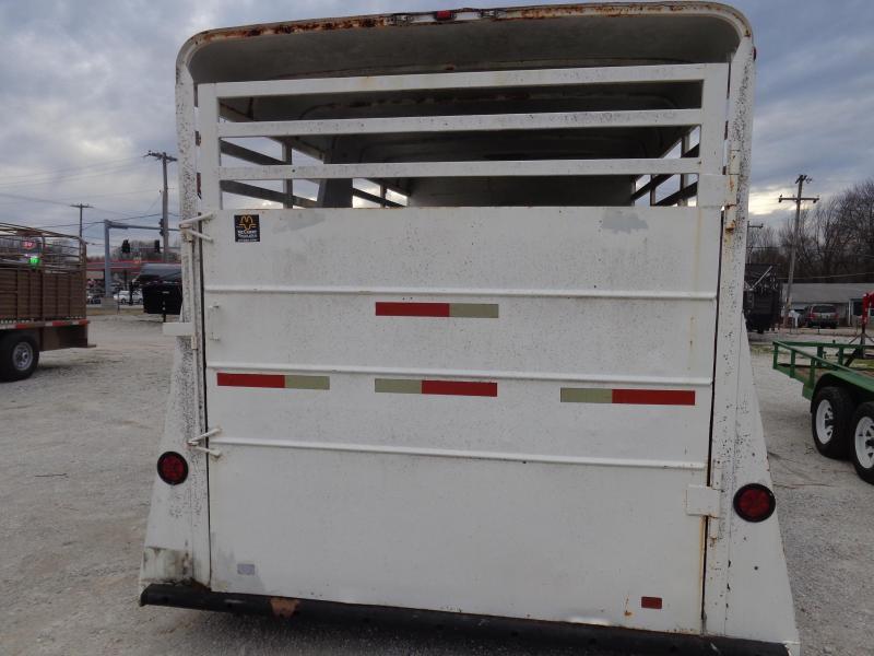 USED 1997 TAGA 22' x 6'8 Gooseneck 3 Horse Slant with Tack Room