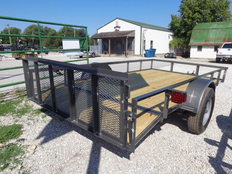 Bulldog 76 x 10'+2' Dovetail Gray Utility Trailer