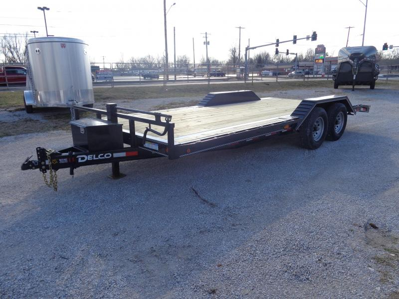 Delco 102 x 18'+2' Dovetail Bumper Pull 14000# Equipment Trailer