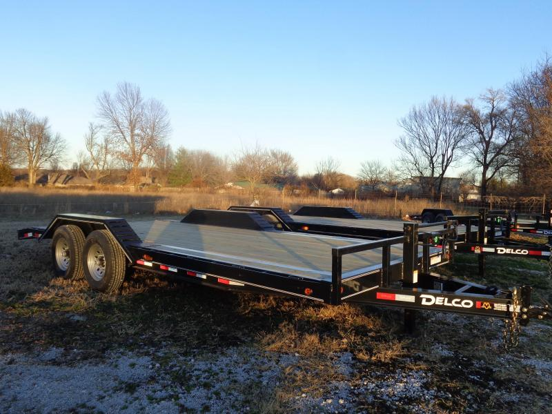 Delco 102 x 18'+2' Dovetail Bumper Pull 14000# Equipment Trailer