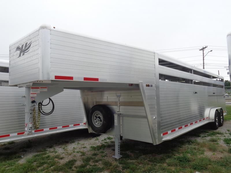 2020 Hillsboro 26 x 7 Endura Aluminum Gooseneck Stock Trailer