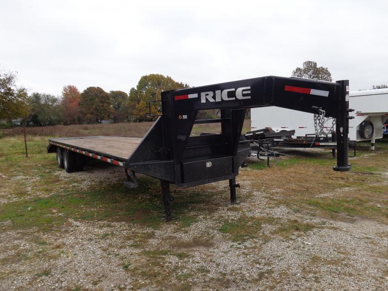 USED 2017 Rice 102 x 27'+5' 22000# Gooseneck Deckover Tandem Dual W/ 2 Full Wide Max Ramps