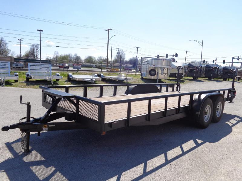 USED 2002 HMDE 83 x 20 Straight Deck Equipment Trailer
