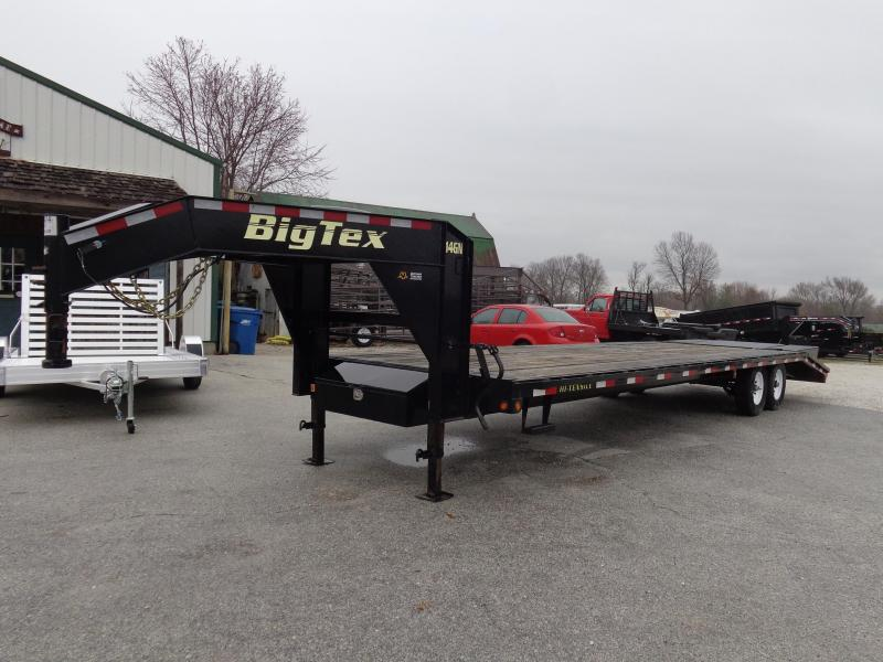 USED 2016 Big Tex Trailers 20'+5' Dovetail Gooseneck Deckover Equipment Trailer