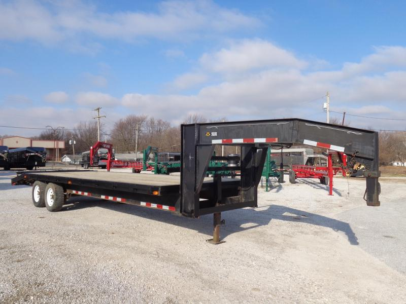 USED 2002 Starlite Trailers 20+4 Gooseneck 14000# Deckover Equipment Trailer