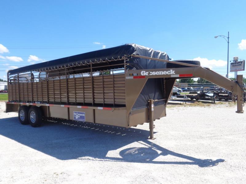 Gooseneck Brand 24' x 6'8 Gooseneck Light Autumn Metallic with Black Tarp Livestock Trailer (COMING SOON)