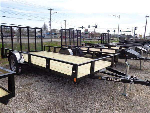"Rice 82"" x 14' Black Utility Trailer"