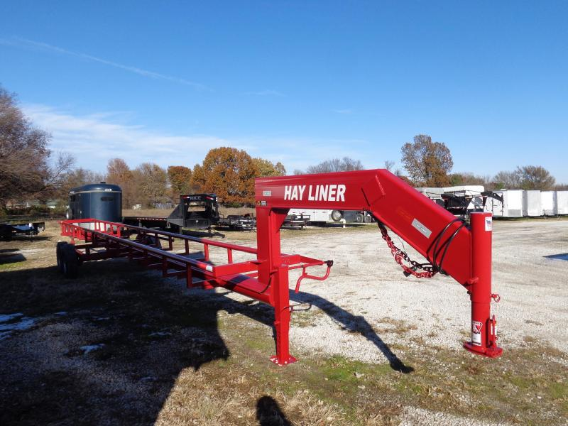 37'  Hay Liner Gooseneck Hay Trailer