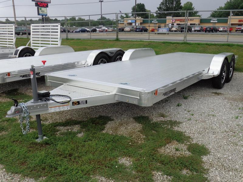 Hillsboro 16' x 6'10 Bumper Pull Aluminum Car Hauler Flatbed Trailer
