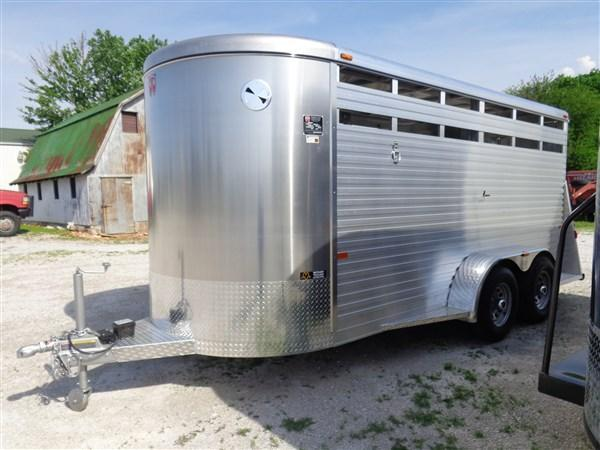 W-W 16 x 6 All Around Aluminum Bumper Pull Livestock Trailer