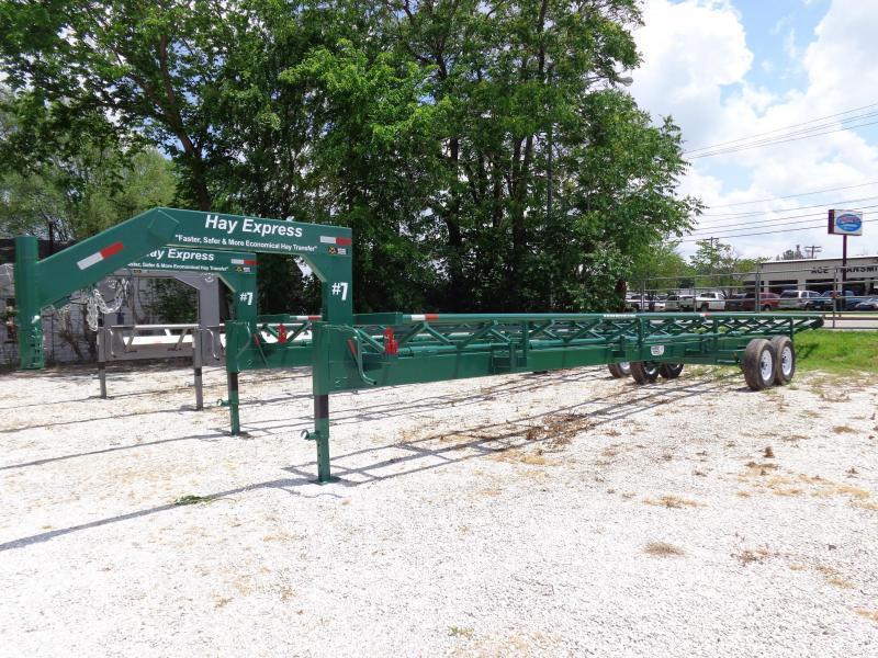 37' Hay Express Gooseneck CRADLE DUMP Hay Trailer