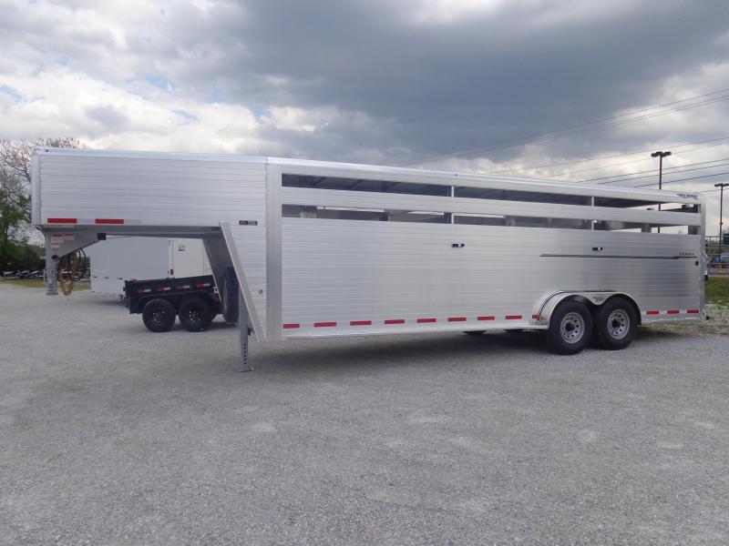 2020 Hillsboro 24x7 ENDURA Aluminum Gooseneck Stock Trailer