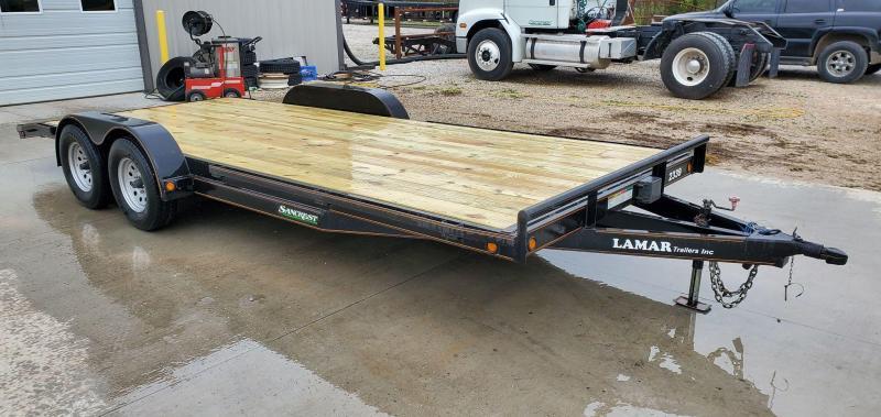 "2010 Lamar 83X20 TANDEM 7K CAR HAULER W/5"" FRAME NEW DECK NEW 10 PLY TIRES"