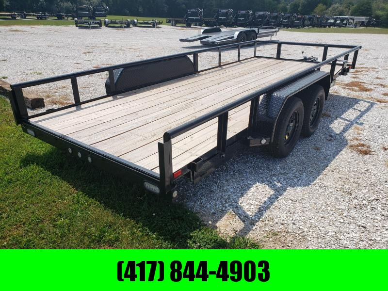 2019 MAXXD 83x18 TANDEM TUBE TOP 7K UTILITY W/PULL OUT RAMPS