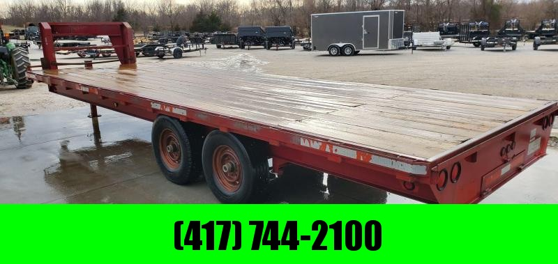 2002 BLUE DIAMOND TANDEM GOOSENECK W/7K AXLES & SLIDE OUT RAMPS