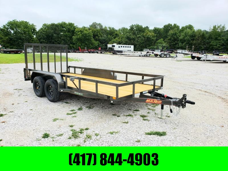 2020 MAXXD 77 X 16 TANDEM UTILITY TRAILER W/ 4FT GATE