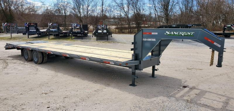 2020 Legend 102X32 TANDEM LO-PRO GRAY GOOSENECK W/10K AXLES & MAX RAMPS