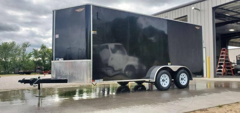 "2020 H&H 7X16 TANDEM 7K BLACK CARGO W/6'6"" HEIGHT"