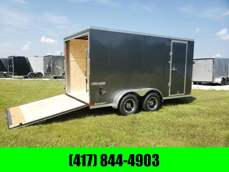 2020 IMPACT 7X14 TANDEM 7K CHARCOAL SLANT NOSE CARGO W/ 6' 6'' HEIGHT