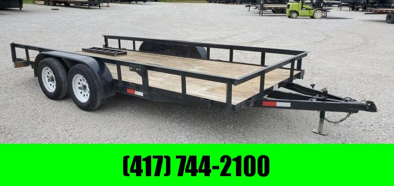 2019 STAG 83X16 TANDEM 7K BLACK UTILITY WITH 4FT RAMPS