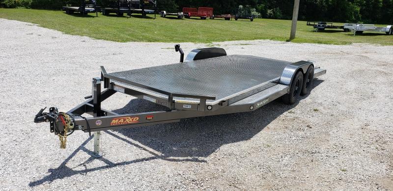 2019 MAXXD 83X20 TANDEM 10K MAXXD METALLIC GRAY  N5X CAR HAULER W/ SPLIT TAIL