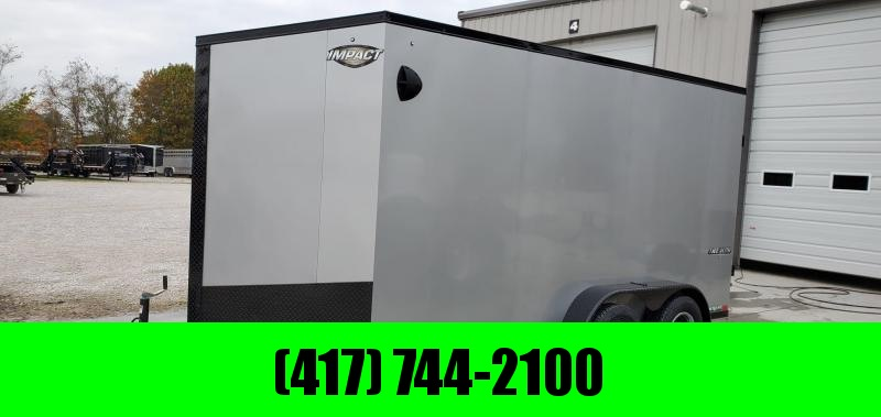 2020 Impact 7X14 TANDEM 7K SILVER CARGO W/BLACKOUT PACKAGE & 7' HEIGHT