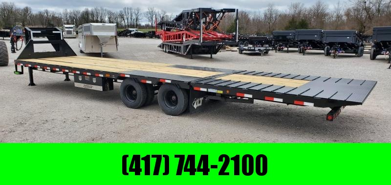 "2020 Load Trail 102x34 TANDEM LO-PRO GOOSENECK W/15K AXLES(HYD. DRUM) HYDROJACKS HYDROTAIL(10' SQ. CLETE 7 GA.) 17.5""/16PLY"