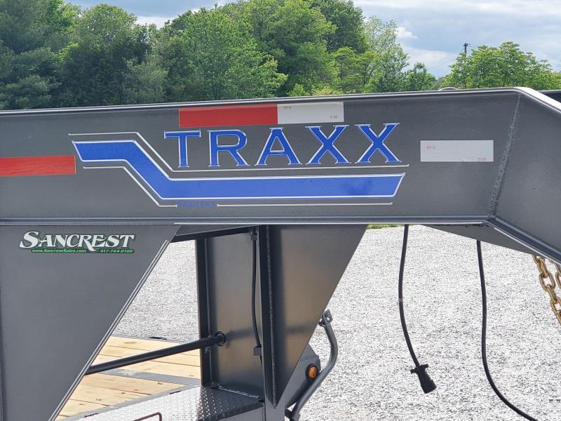 2020 Traxx 102 X 30 TANDEM LO-PRO GUNMETAL GRAY GOOSENECK W/MAXX RAMPS & SPARE