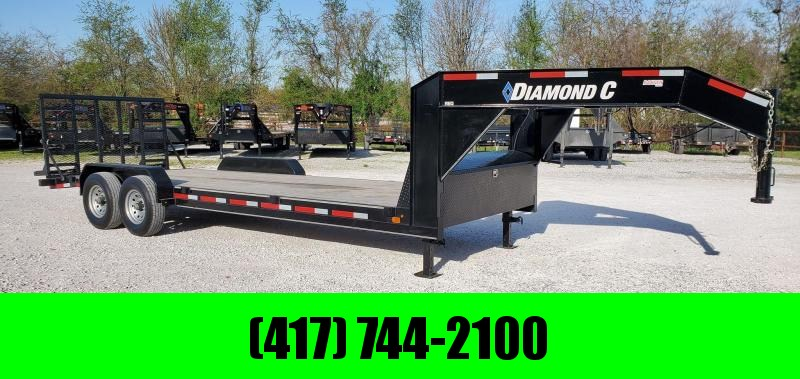 2019 Diamond C 83X22 TANDEM 14K GOOSENECK CAR/EQUIPMENT HAULER W/2FT DOVETAIL & 4'HD SPRING GATE