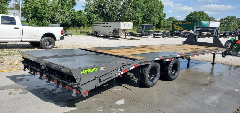 2019 LOAD TRAIL 102X30(25+5) TANDEM GRAY  LO-PRO GOOSENECK W/10K AXLES(HDSS) & MAX RAMPS